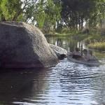 Atherton Tableland Granite Gorge - mit Mädels im Paddelboot