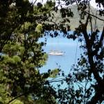 Whitsunday Islands Sailing Cruise - Blick auf Schiff von Insel
