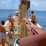 Whitsunday Islands Sailing Cruise - Blick auf Schiff von vorne