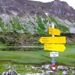 Berwanderung Schilder