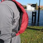 Rucksack am Rücken