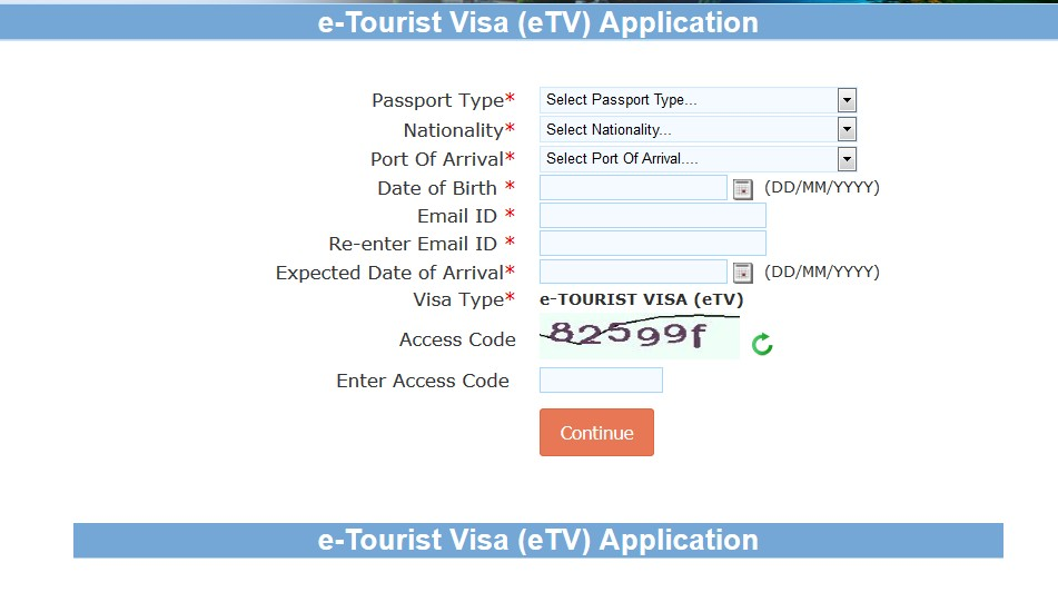e-Tourist-Visa-eTV-application