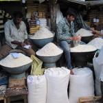 Indien Reisverkäufer
